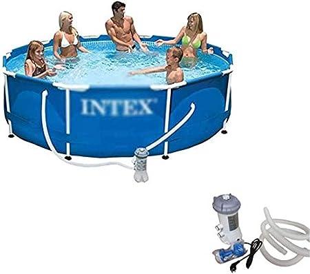 Mopoq Adulto Familia piscina grande de soporte de piscina al aire libre de PVC for niños Jardín Piscina for niños piscinas infantiles de seguridad resistente Ajuste estanque de pesca, Blue-Pequeño, 30: Amazon.es: