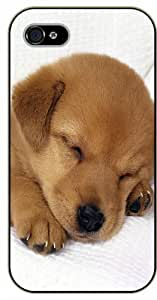 diy phone caseiphone 5c Sleeping dog, puppy - black plastic case / Nature, Animals, Places Seriesdiy phone case
