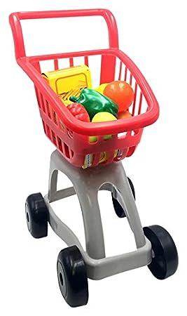 Tachan Carrito de supermercado con Alimentos Color Rojo/Gris Vicam 91: Amazon.es: Juguetes y juegos