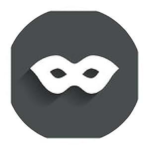 alfombrilla de ratón Máscara icono de la muestra. símbolo de acceso espía anónimo. - ronda - 20cm