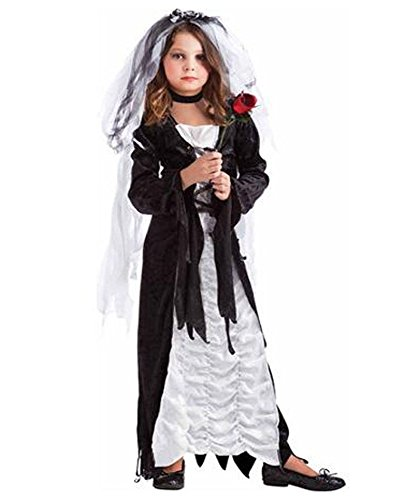 Kids Costumes Bride Of Darkness (Bride of Darkness Costume - Large)