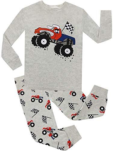 Pajamas for Boys Car Christmas Clothes 2 Piece PJS Sets 100% Cotton Children Sleepwear Size 10 -
