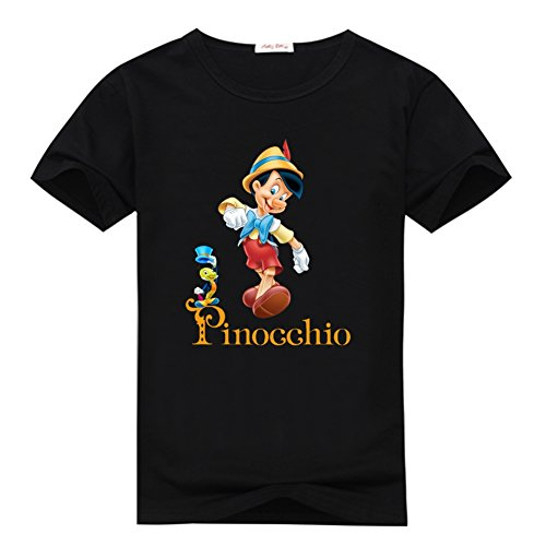 Bokeasy Pinocchio With Jiminy Cricket Logo Womens Classic Top T-shirt XL Black