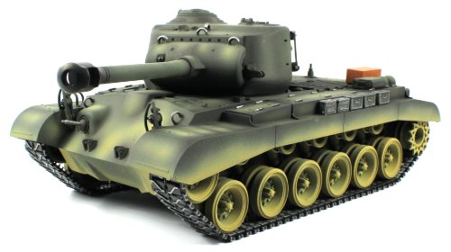 Taigen American M26 Pershing Electric Airsoft RC Tank Pro Series World War II WWII 2.4GHz Big 1:16 Scale Ready To Run RTR, Shoots Airsoft BB's