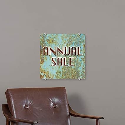 CGSignLab 5-Pack 16x16 Annual Sale Ghost Aged Blue Premium Acrylic Sign