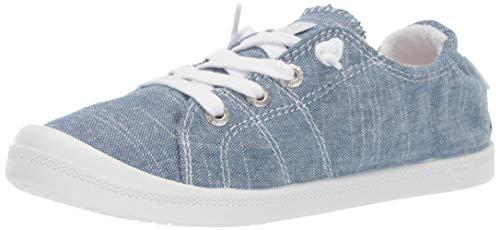 Roxy Girls' RG Bayshore Slip On Sneaker Shoe Slipper, Chambray New, 1 M US Big Kid