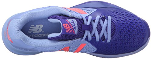 New Balance Women's 996v2 Tennis Shoe Spectral Blue/Pink