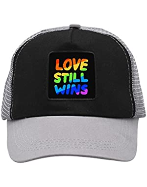 Unisex Love Still Wins Trucker Hat Adjustable Mesh Cap