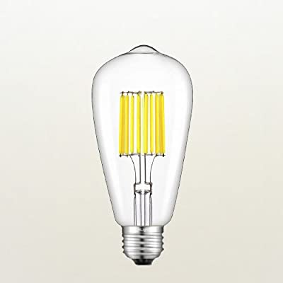 CRLight 10W LED Edison Bulb 5000K Daylight White 1000LM, 100W Incandescent Equivalent, Replace 20W Compact Fluorescent CFL Bulbs, E26 Medium Base ST64 Vintage LED Filament Bulbs, Non-dimmable
