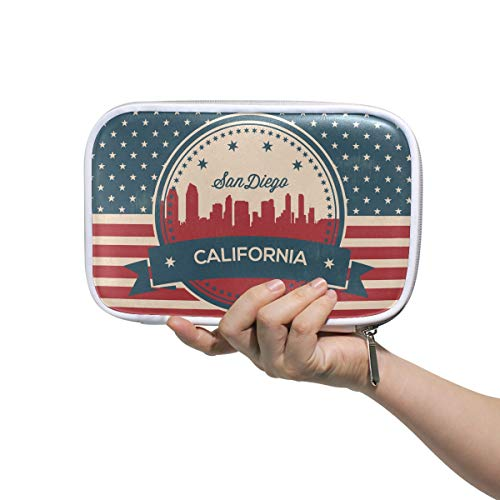 California State San Diego Skyline Pencil Case Pen Organizer Pouch Stationary Case Makeup Cosmetic Bag
