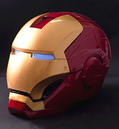 Gmasking New Iron Man Wearable Adult Helmet Scale 1:1 Replica+Gmask (Real Costume Iron Man)