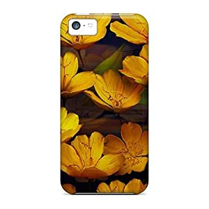 meilz aiaiFashionable Style Cases Covers Skin For Iphone 5c- Golden Liliesmeilz aiai