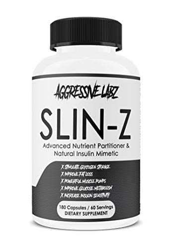 Aggressive Labz SLIN-Z – Glucose Disposal Agent – 180 Capsule Formula – Manage Insulin Levels – Assist with Fat Loss and Lean Muscle Growth