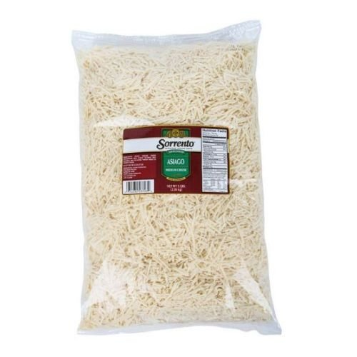 Sorrento Medium Shredded Asiago Cheese, 5 Pound - 6 per case.