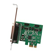 IOCrest SI-PEX50103 PCI-Express 2.0 x1, 2-Port DB9 Serial (RS-232) Plus 1-Port DB25 Parallel Printer (LPT1) Combo Card Components