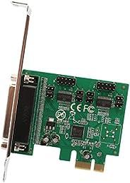 IOCrest SI-PEX50103 PCI-Express 2.0 x1, 2-Port DB9 Serial (RS-232) Plus 1-Port DB25 Parallel Printer (LPT1) Co