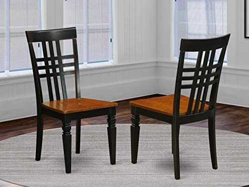 Logan Dining Chair with Wood Seat – Black Cherry Finish.