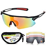 8. Sports Sunglasses Bike Cycling Sunglasses for Men Women with 5 Interchangeable Lens,Polarized Sunglasses with Anti-Uv400 for Driving Fishing Glof