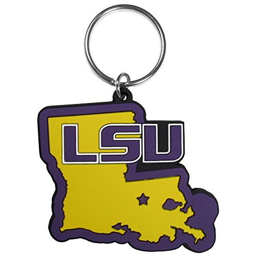 Siskiyou NCAA LSU Tigers Home State Flexi Key Chain (Lsu Tigers Home Accessories)