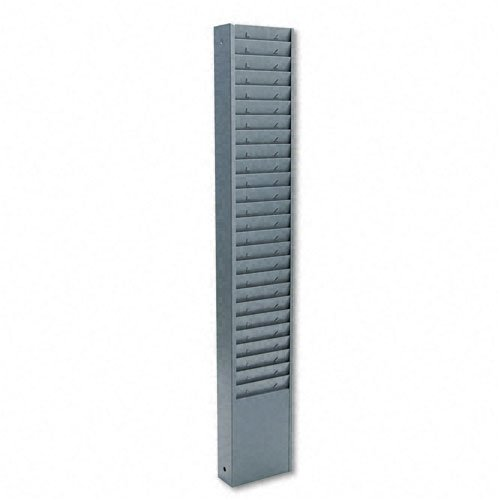 Buddy Products : Fixed-Size 25-Pocket Time Card Rack, 7 High Pocket, Textured Steel, Gray -:- Sold as 2 Packs of - 1 - / - Total of 2 Each