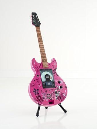 Brandani - Reproductor de CD/MP3 y radio AM/FM en forma de guitarra, color rosa: Amazon.es: Electrónica