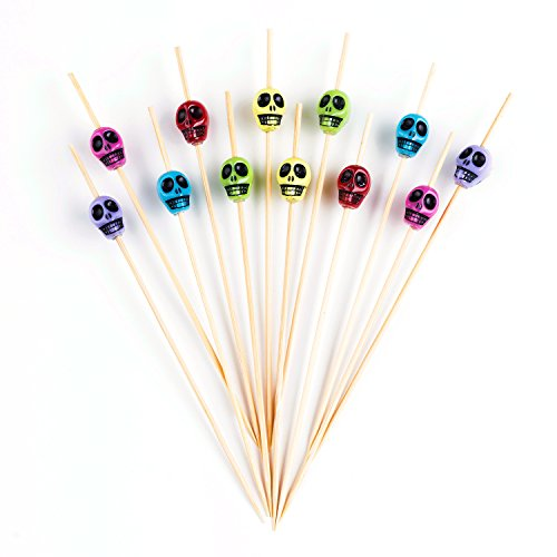 PuTwo Cocktail Picks Handmade Bamboo Toothpicks 100ct 4.7