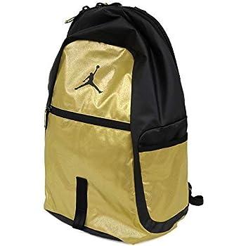 6f556d2ebfa94e Nike Air Jordan Jumpman reflector All World Bookbag Sports Laptop Student  Backpack Metallic Gold