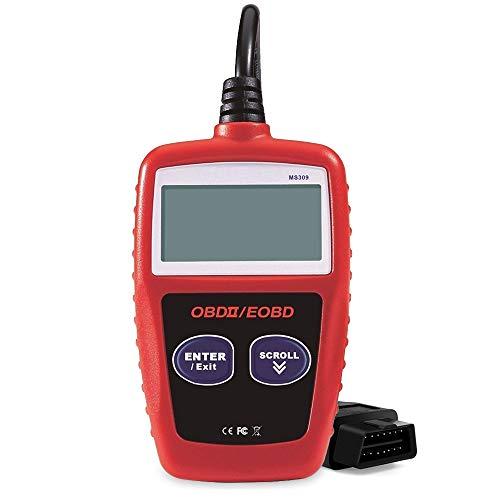 OBD2 Scanner Auto Car OBDii 2 Code Reader Diagnostic Scan Tool Car Engine Code Reader, MS309 OBDII Scanner Universal CAN Diagnostic Tool for 1996 or Newer Vehicle Support OBD2 Protocols ()