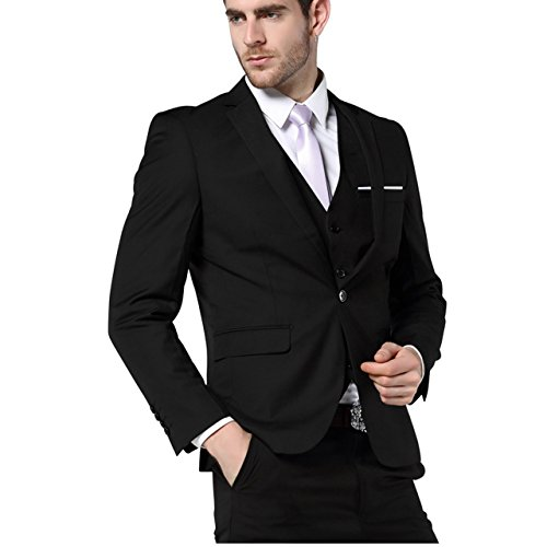 Slim Fit Mens Suits Three Piece Navy Bue Suit Mens Wedding Suits Mens Blazer Pants Vest from xWxSebPT