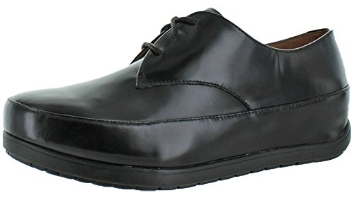 FitFlop Womens Beau Derby Lace-up Leather Oxford All Black 22sGu6