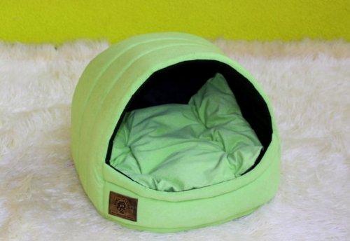 Domo/cesta/caseta para perro gato York Shih-Tzu celadón: Amazon.es: Productos para mascotas