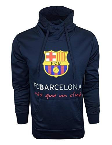 Barcelona Hoody - FC Barcelona Hoodie for Kids and Adults, Official Barcelona Navy Pull Over Hoodie, Hooded Sweatshirt (X-Large)