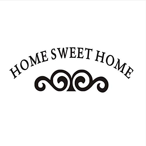 LJLQ Home Sweet Home with Moustache Pattern Large Size Wall Stickers for Kids Room Vinyl Removable Art Mural Wall Decals 113X41Cm