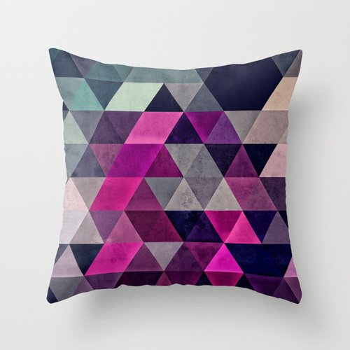 Artistdecor 18 X 18 Inches / 45 By 45 Cm Slimmingpiggy Comfortable Bedding Triangle Grid Pattern With Large Difference In Color Difference 18x18 Inch Pillow Case Pillowcover ,two Sides Ornament (2)