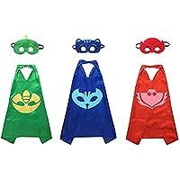 Kiddo Care MK2 Super Hero Capes, Satin (PJ Mask Set)