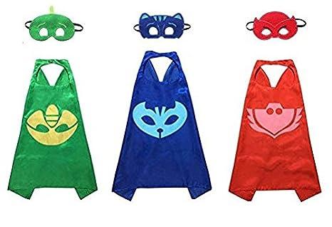 Kiddo Care Superhero Capes, Masken, Satin (Mädchen) (4 Sätze - Super Girl, Mädchen Spinnen, Bat Girl, Wonder Woman) Markenname: Kiddo Pflege Mädchen Spinnen