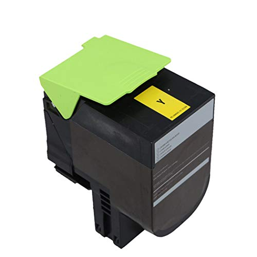 Suitable for Lexmark C540DN Color Compatible Toner Cartridge, LexmarkC540dw/C540n/C543dn/C544n/C544dwC544dn/C546dtn Printer Toner Cartridge 4 Colors,Yellow