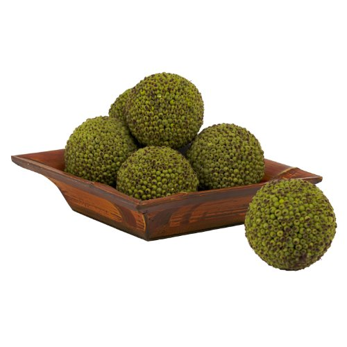 Nearly Natural 4795 Berry Ball, 4-Inch, Green, Set of 6