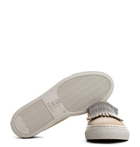 Cucinelli Mzdukg415c6321 Suède Chaussures De Brunello Beige Femme Skate BxARdxn4