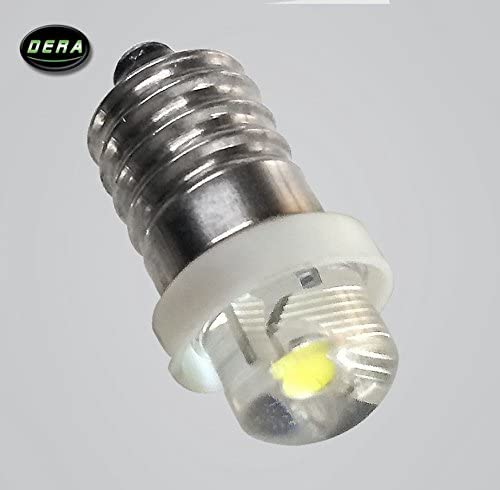 DERA E10 0.5W 4.5V Led Flashlight Replacement Bulb Torch Lamp Light Cool White