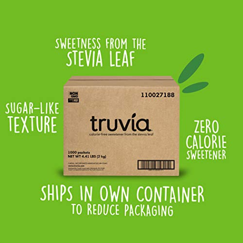 Truvia Natural Stevia Sweetener Packets, 1,000-Count Box (Net Wt. 70.5 oz) ()