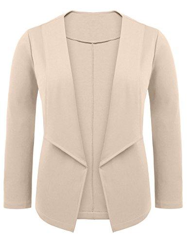 Zeagoo Women Plus Size Casual Work Office Open Front Blazer Jacket Cardigan