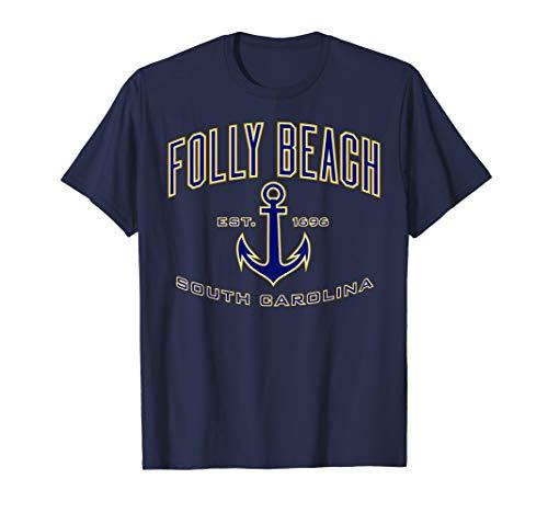 (Folly Beach SC Shirt for Women, Men, Girls & Boys)