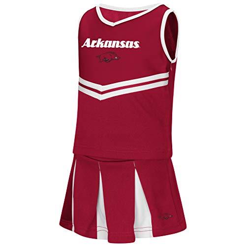 - Colosseum NCAA Toddler-Girls Team Cheer Set-Arkansas Razorbacks-2T