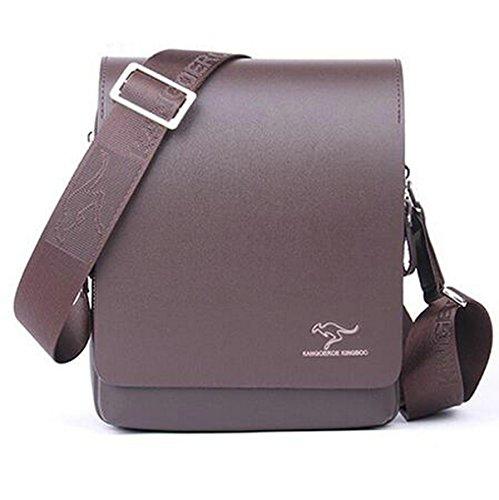 Men's Split Leather Kangaroo Kingdom Shoulder Messenger Bag