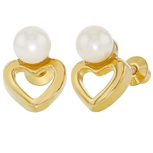 fc76719eece6 ... Cierre de Rosca para Niñas. 80% OFF In Season Jewelry - Chapado en Oro  18k Perlas de Imitación Blancas Aretes