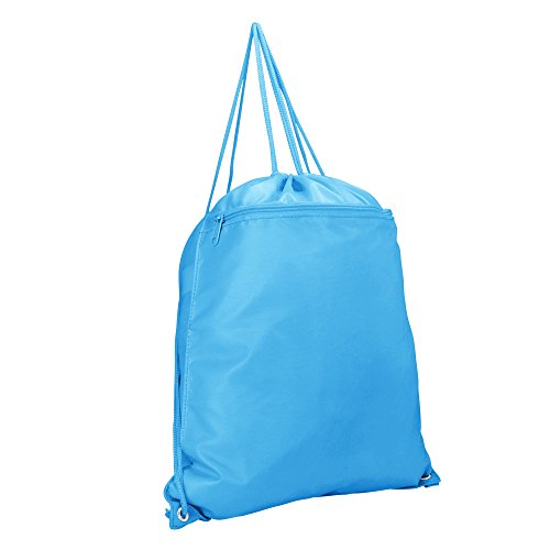 DALIX Drawstring Backpack Sack Bag Light Baby Blue ()