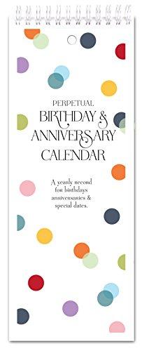 (Confetti Dots Perpetual Birthday & Anniversary Calendar)