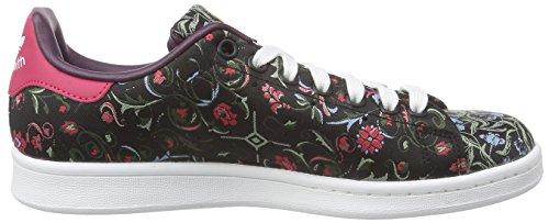 Vert Sneakers Violet Femme Smith Rose Noir Multicolore adidas Basses Originals Stan BHnUg