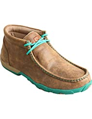Twisted X Ladies Turquoise Lace Driving Mocs